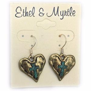 Ethel & Myrtle Heart Earrings (Case 2) 2769